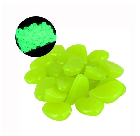 Светящиеся лимонные камни в аквариум - в наборе 10шт. (размер одного камня 1,5-2,5см)
