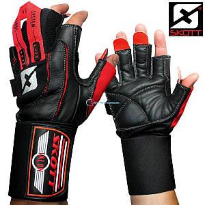 Кожаные перчатки для фитнеса SKOTT TALON SF-10001