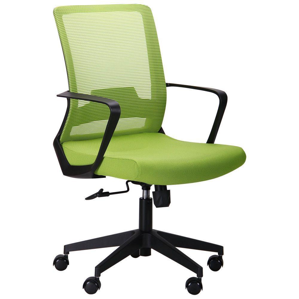 Офисное кресло AMF Argon-LB  сетка-ткань оливкового цвета