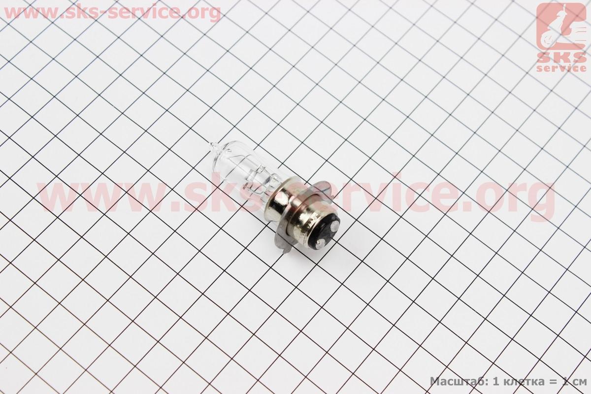 Лампа фари P15D-25-3 12V 35/35W (коротка)