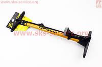 """Насос ручной """"напольный"""" с манометром 160 psi/11 bar, под штуцера Schrader&Presta, желтый SPM-155P"""