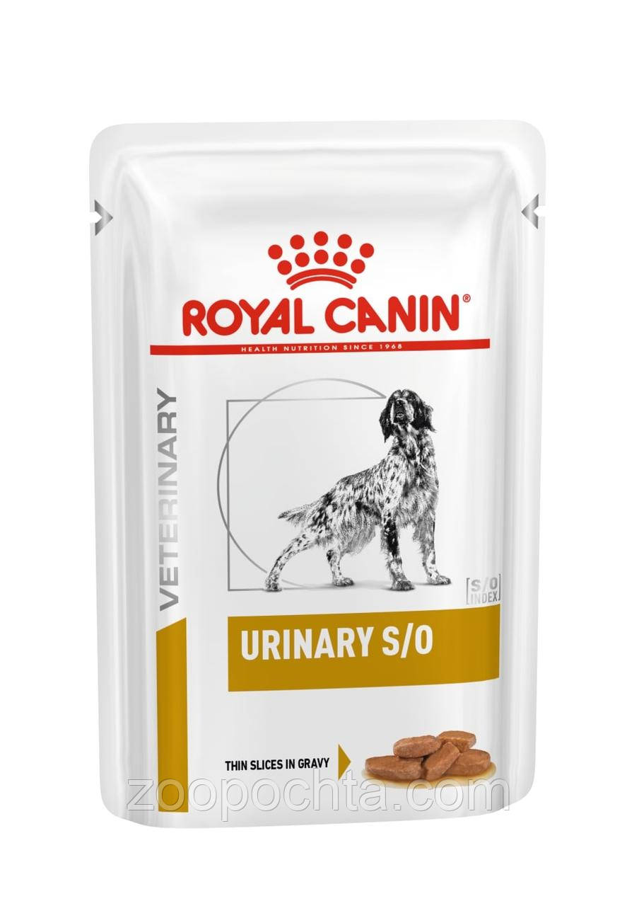 Вологий лікувальний корм Royal Canin Urinary S/O Dog pouches для собак 100ГР*12ШТ