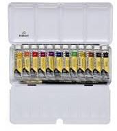 Набор акварельных красок REMBRANDT DUSK 12 цв по 10 мл + кисть в металлическом пенале 05830193