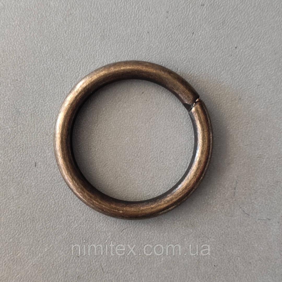 Кольцо литое сварное 30 мм антик