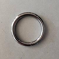 Кільце металеве зварне 30 мм чорний нікель