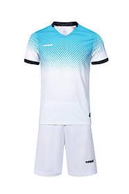 Футбольная форма Europaw 024 бело-голубая