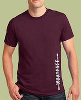 "0036 -TSRA-BU  Мужская футболка ""WHAT EVER "" бордо"