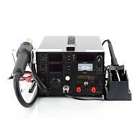 Термовоздушная паяльная станция с паяльником Kraft&Dele KD856 5в1 4 сопла