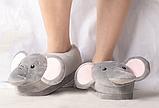 Тапочки Слоники, размер универсальный 27-29, стелька 18,5 см, фото 2