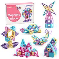 Магнитный конструктор для детей. 144 детали в контейнере