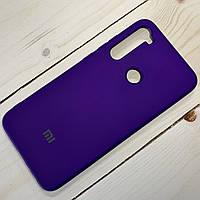 Силиконовый чехол Silicone Case Xiaomi Redmi Note 8 Фиолетовый