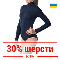 Термо боди с шерстью с высоким горлом KIFA / Термобелье повседневное женское