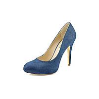 Синие туфли из меха пони INC