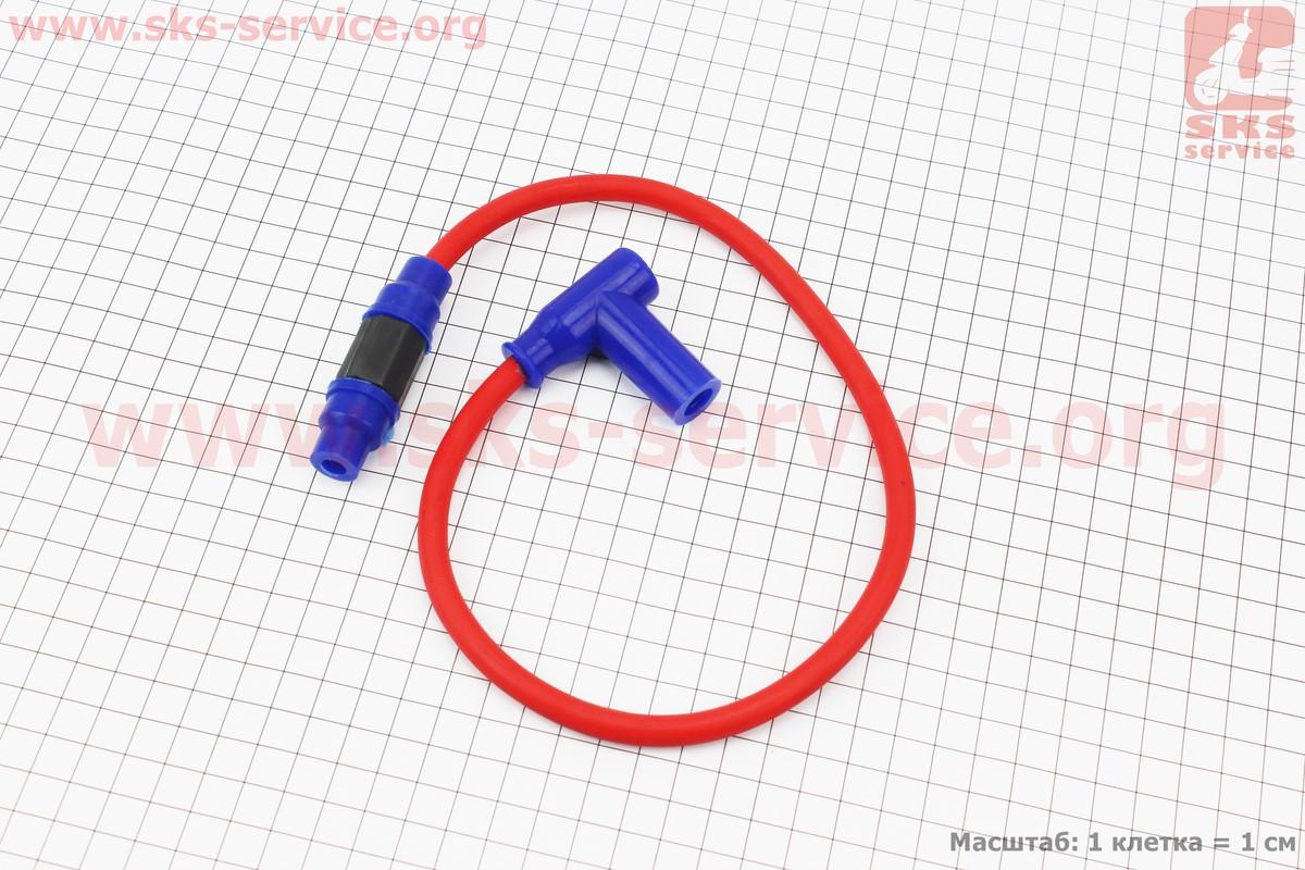 Провод к катушкам зажигания (красный), 43см + колпачок свечной TUNING