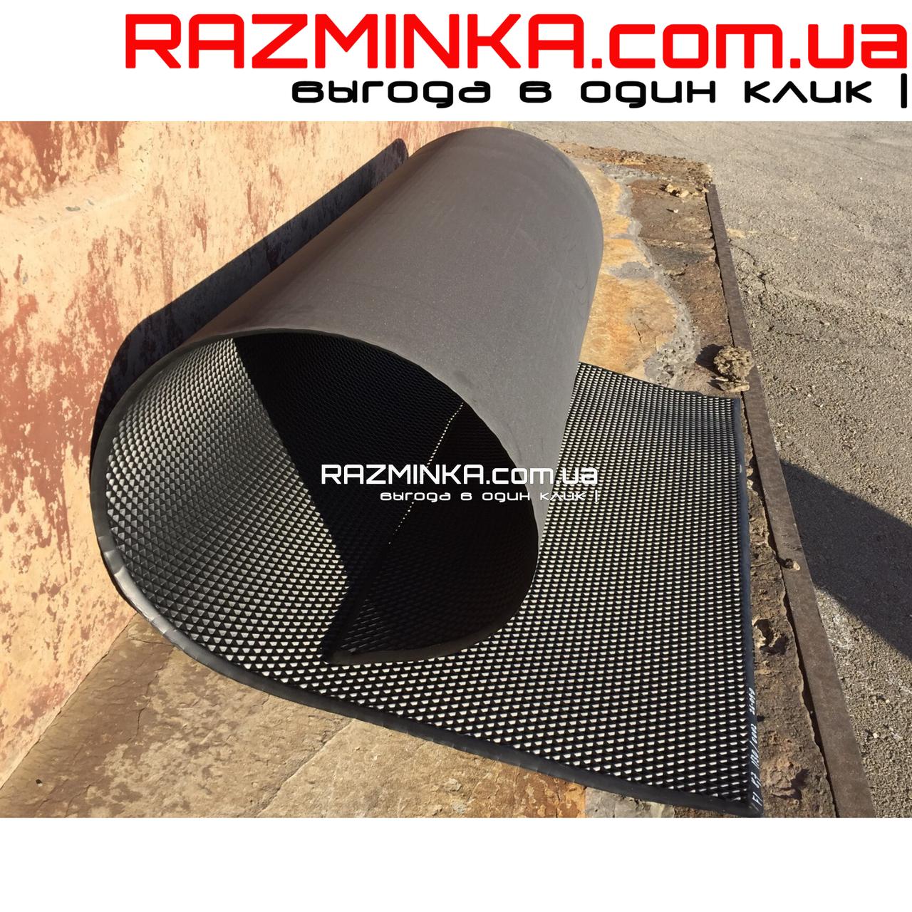 EVA материал для автоковриков (ЭВА листы) 200х120см, черный ромб