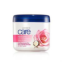 Мультифункціональний крем з рожевою водою та маслом ши «Сяйво» Креми