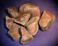Малиновый кварцит колотый для каменки 50х150