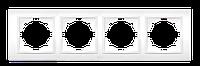 Рамка ABB El-bi Zena четырехместная универсальная сиреневая глянцевая, Турция