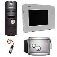 Комплект видеодомофона AVD-405 + AVP-05 + замок Arny Rim
