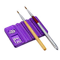 Подставка для кисточек и декора, Фиолетовая