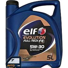 Синтетическое моторное масло ELF Evolution Full-Tech FE 5W-30 - 5 л