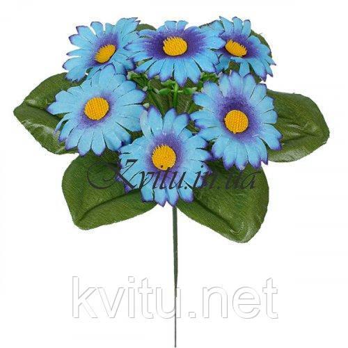 Искусственные цветы букет заливка ромашки цветные, 21см