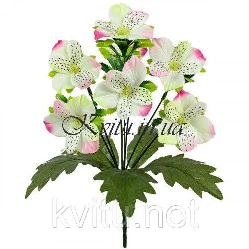 Букет орхидея искусственная с подкустником, 30см
