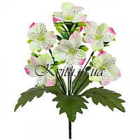 Искусственные цветы букет орхидея  с подкустником, 30см
