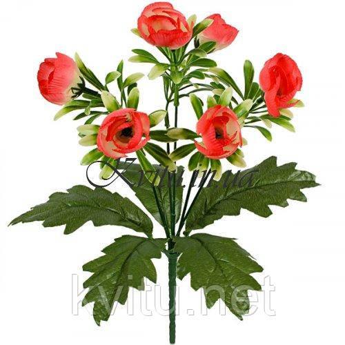 Искусственные цветы букет пионы искусственные с подкустником, 33см