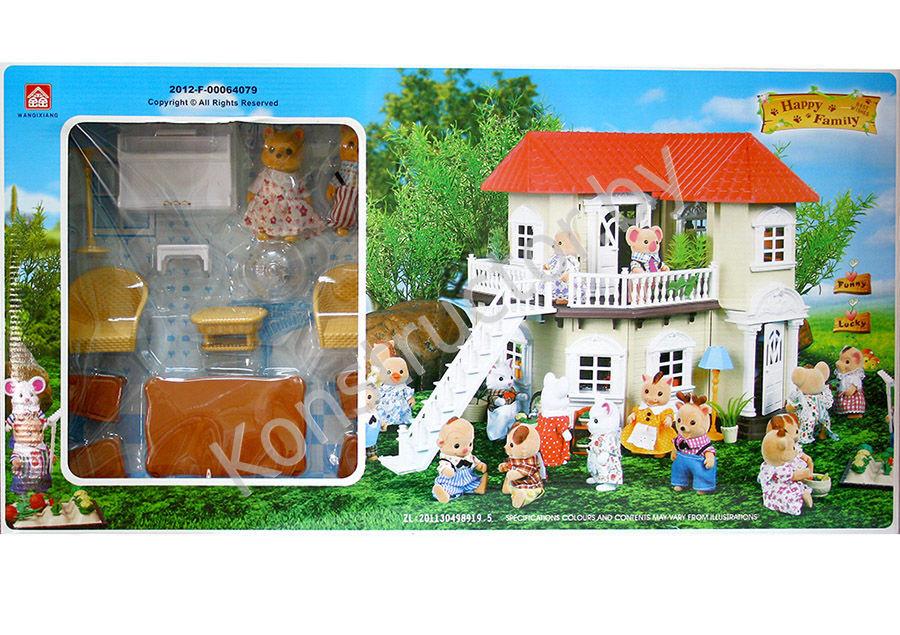 Домик с мебелью и фигурками Happy Family