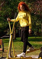 Спортивный костюм женский двунитка, Innoe, желтый (44/46)