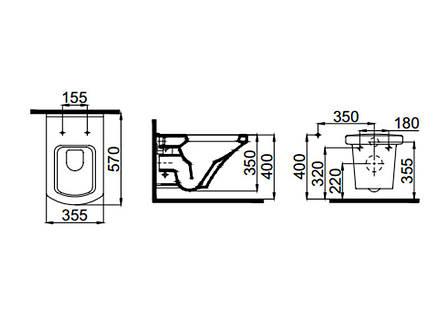 Vega чаша подвесного унитаза с сид. Soft Close (SETK2804-0606-001-1-10000) IDEVIT, фото 2
