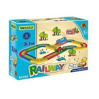 """Игровой набор Wader - Детская железная дорога серии """"Kid Cars"""" 3,1 м"""