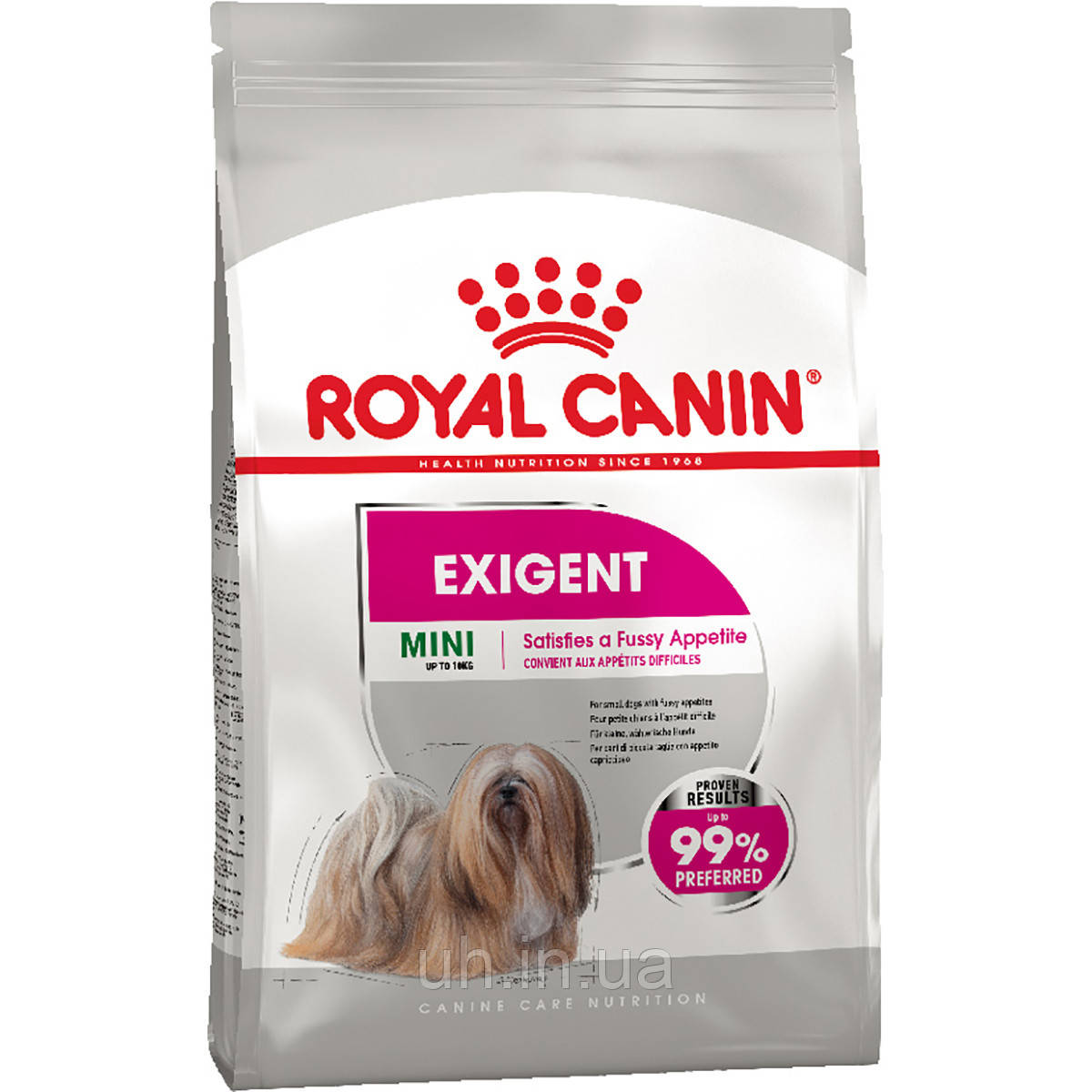 Royal Canin Mini Exigent сухий корм для собак дрібних порід вибагливих у їжі від 10 міс 0,8 КГ
