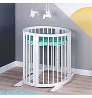 Кровать трансформер для новорожденных  7в1 с маятниковым механизмом Сиди М Украина белая 55478