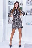 Новогоднее прямое мини платье с пайетками на спине капле-образный вырез с завязками