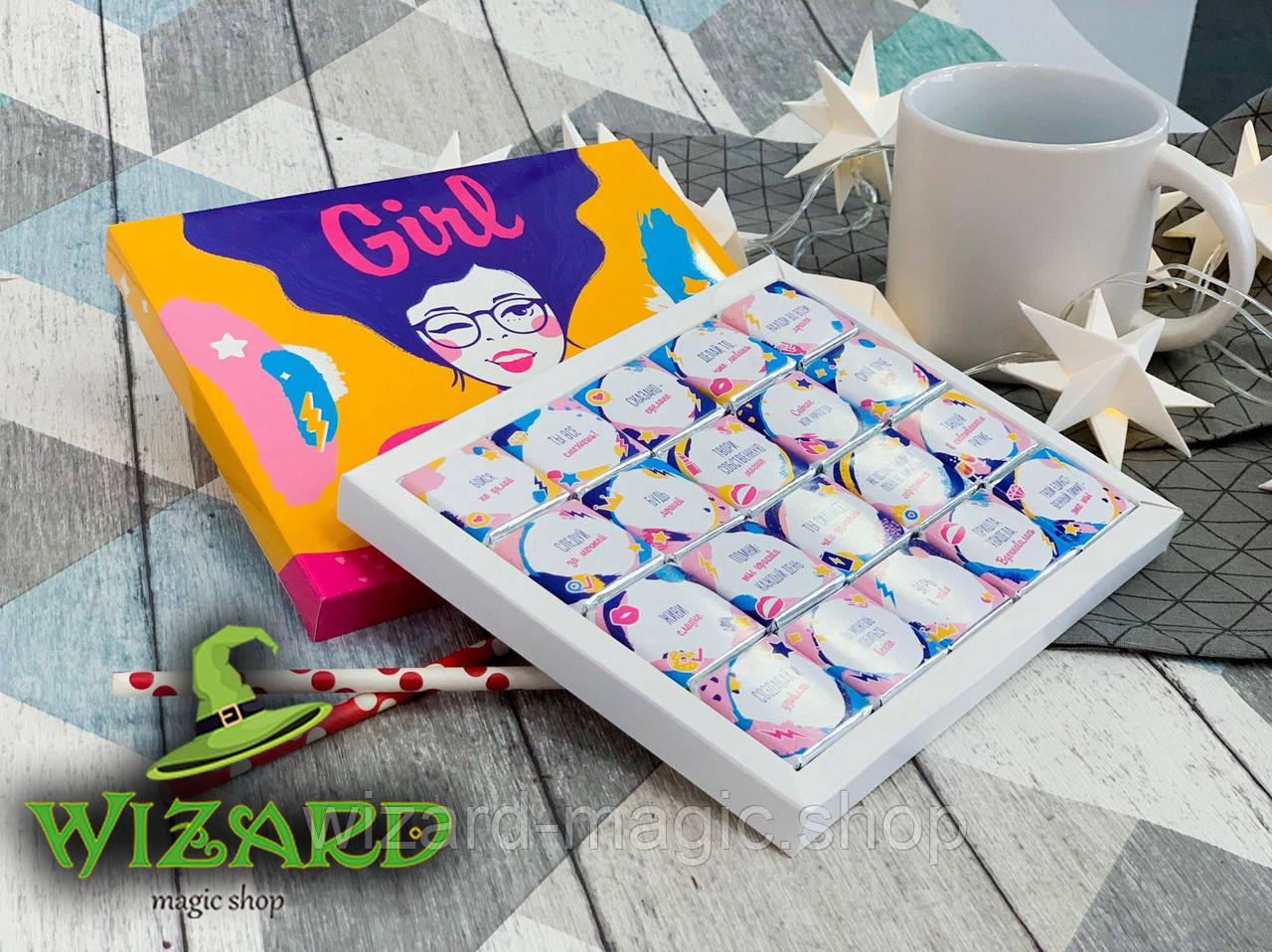 Шоколадный набор Girl Boss (20 шоколадок)