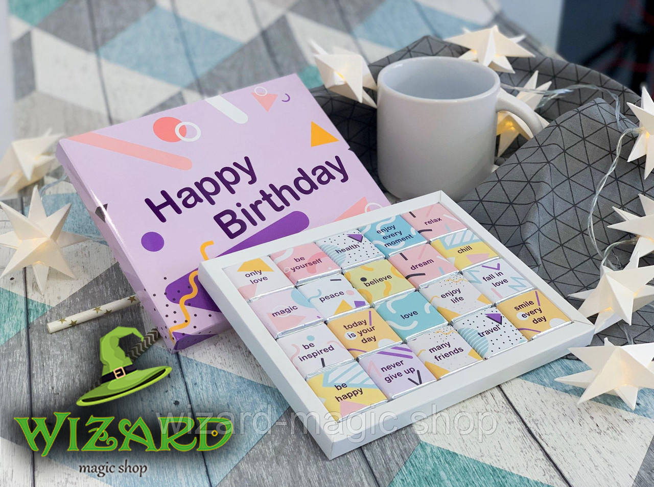 Шоколадный набор Happy Birthday (20 шоколадок)