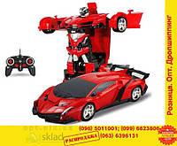 Машинка робот трансформер на радиоуправлении пульте машина Lamborghini