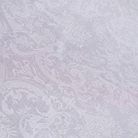 Бязь Дамаск з білим візерунком на білому тлі, ширина 220 см, фото 1