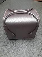 Бьюти кейс чемодан для мастера салонов красоты из кожзама на змейке лабиринт