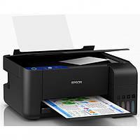 ✅ МФУ для дома и офиса Epson L3111 (цветной принтер/сканер/копир, 33 стр/мин ч/б, струйный) | Гарантия 12 мес