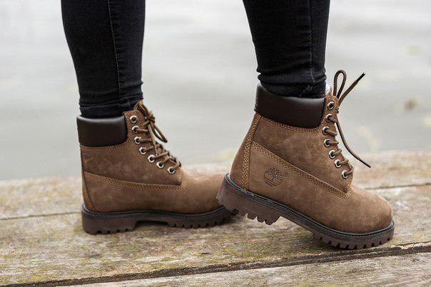 Коричневые зимние ботинки Timberland, до -30