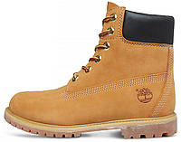 Женские ботинки Timberland 6-inch Yellow (Тимберленд) с натуральным мехом