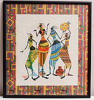 """Картина вишита хрестом """"Африканські мотиви"""", 42х46 см"""