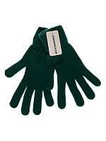 Перчатки женские вязаные C&A зеленые