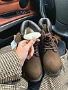 Женские зимние ботинки Timberland brown  МЕХ, два цвета, фото 4