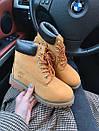 Женские зимние ботинки Timberland brown  МЕХ, два цвета, фото 8