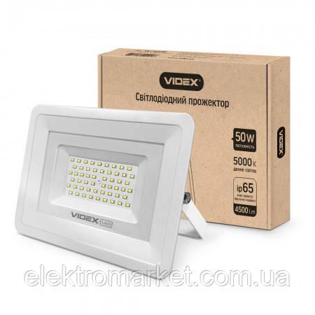 Прожектор LED VIDEX 50W 5000K 220V (VL-Fe505W)