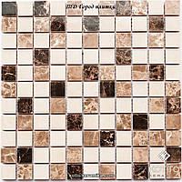Мозаика СМ3024 С2 Brown Beige White - керамическая мозаика 300х300
